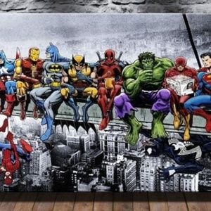 Other - New comic super hero portrait on canvas